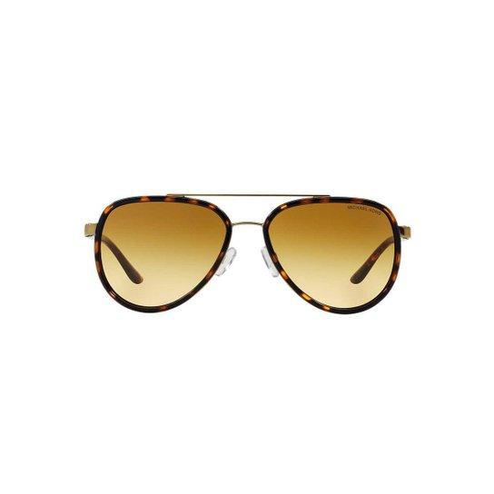 d10c100117fa2 Óculos de Sol Michael Kors Piloto MK5006 Playa Norte Feminino - Caramelo