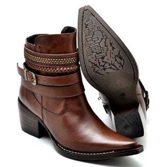 Bota Top Franca Shoes Country Bico Fino Feminina e9fe2aedfcf