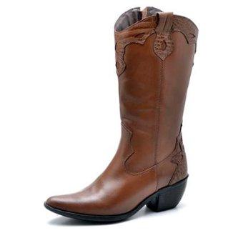 7b3fcb2e2 Bota Top Franca Shoes Country Bico Fino Feminina