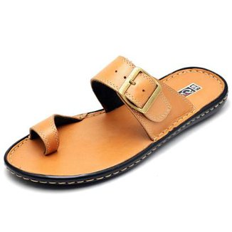 4cbfe28ce9 Sandália Couro Conforto Top Franca Shoes Masculino