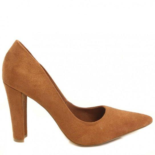 1f5e09f5c Sapato Bebecê Scarpin Bico Fino - Caramelo
