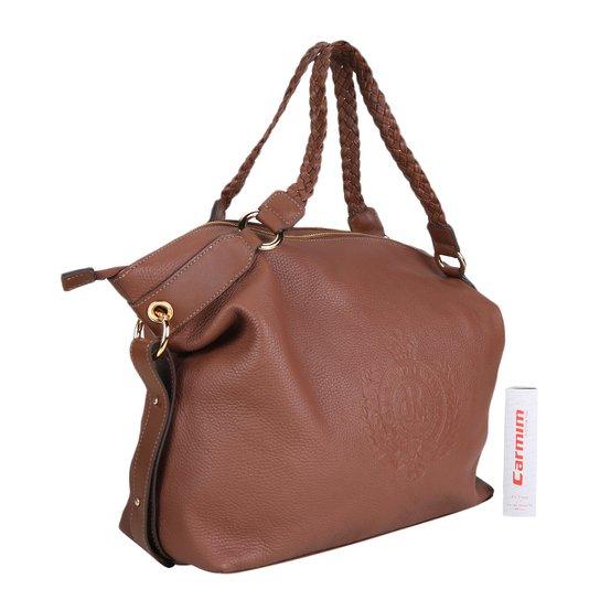19963277a Bolsa Couro Carmim Shopper Deann Feminina - Caramelo