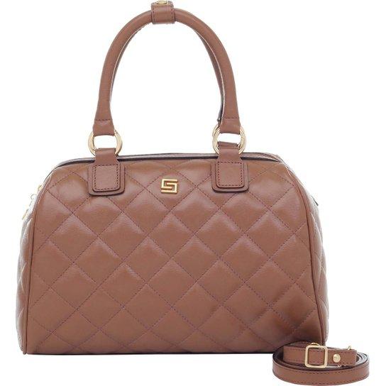9eeca15d1 Bolsa Smart Bag Baú Couro Matelassê - Caramelo | Zattini