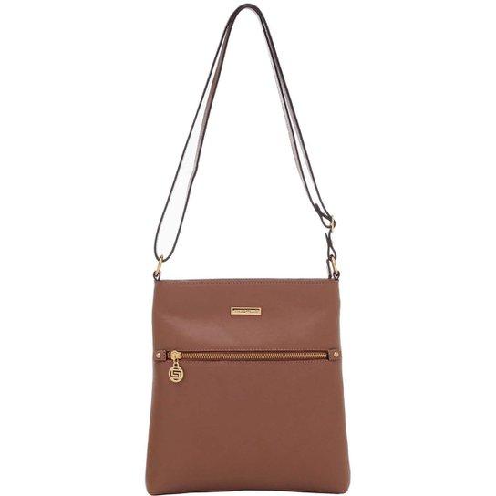 b095a02ea Bolsa Smart Bag Couro Transversal - Caramelo | Zattini