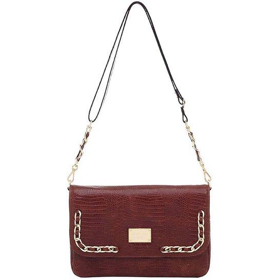 1bdc3d4c0 Bolsa Couro Smartbag Transversal Lagarto - Caramelo - Compre Agora ...