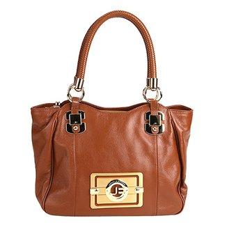 5d3a99de6 Bolsa Couro Jorge Bischoff Handbag Logo Feminina
