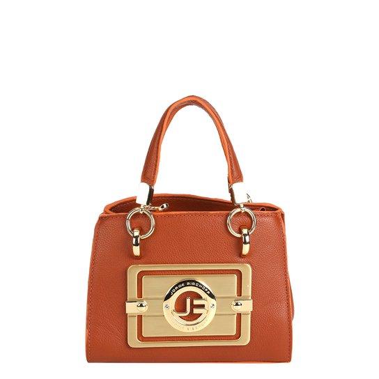 6221994ec Bolsa Couro Jorge Bischoff Mini Bag Ferragem Napa Feminina - Caramelo
