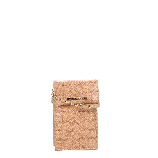 666cd4c28 Bolsa Couro Jorge Bischoff Mini bag Carteira Animal Mix Feminina - Caramelo