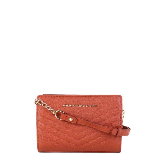 556039018 Bolsa Couro Jorge Bischoff Mini Bag Matelassê Feminina - Caramelo ...