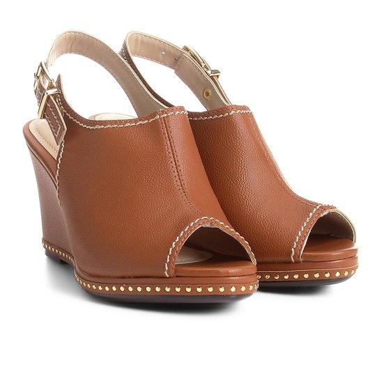 8aa9ba0091497 Sandal Boot Azaleia Anabela Com Aplicações Metalizadas - Compre ...