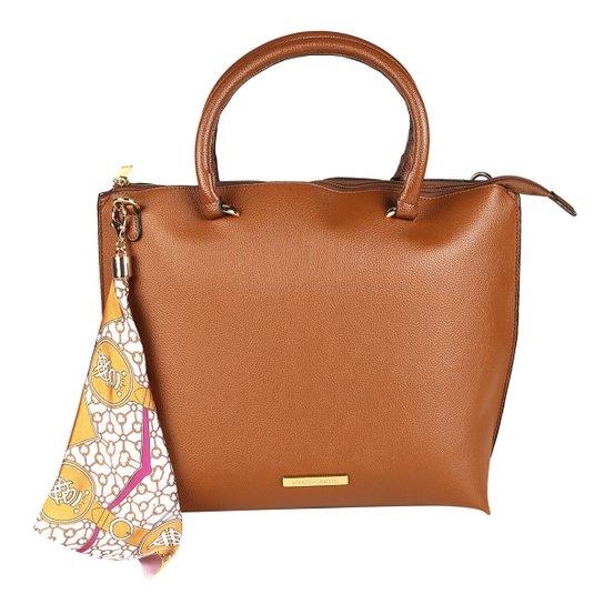 2d02f40606ec4 Bolsa Loucos   Santos Shopper com Lenço Feminina - Caramelo - Compre ...