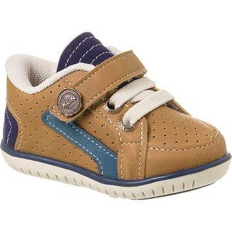 64fb6e5c30 Sapato Bebê Masculino Klin Cra Furinhos