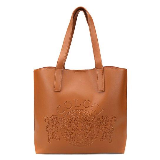 77559f0be0 Bolsa Colcci Shopper Brasão Feminina - Caramelo
