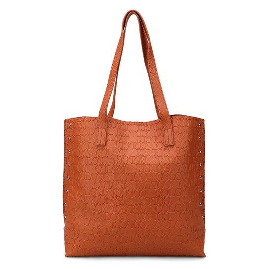 05b777c5a Bolsa Colcci Shopper Croco Tachas Feminina - Caramelo - Compre Agora ...