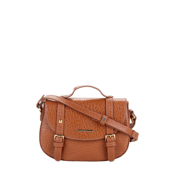 581d219a8 Bolsa Couro Colcci Mini Bag Floater Fivelas Feminina - Caramelo ...