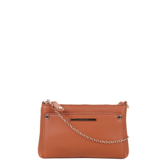 0751367f3 Bolsa Colcci Mini Bag Tiracolo Alça Corrente Feminina - Caramelo ...
