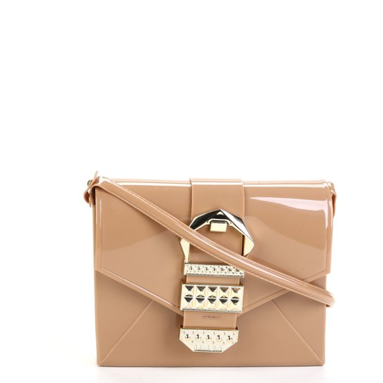 34086d08c Bolsa Petite Jolie Verniz Detalhe Fivela Alça Transversal Hello Bag  Feminina - Caramelo