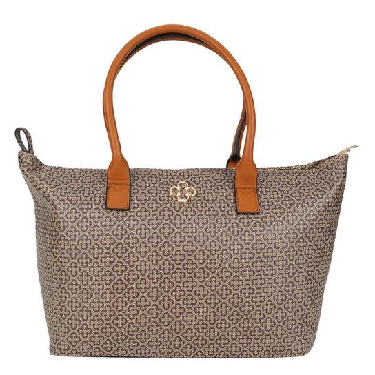a3feff479 Bolsa Capodarte Shopper Monograma Feminina - Caramelo