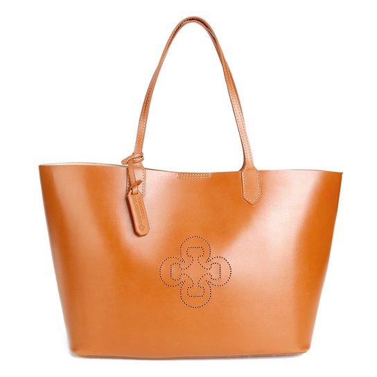 a94ffe842 Bolsa Capodarte Shopper Lisa Feminina - Caramelo   Zattini