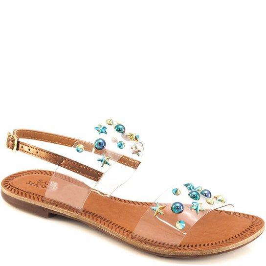 9812870c1 Sandália Rasteira Transparente Sapato Show 402 - Compre Agora   Zattini