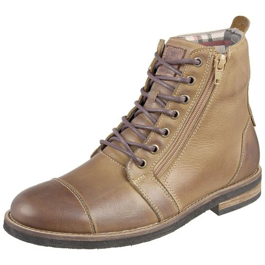 fe8be0a71c Bota Shoes Grand Ziper Masculina - Caramelo