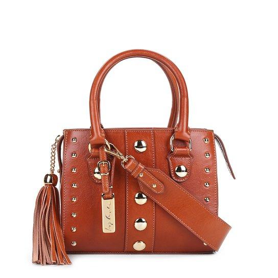 5b0f67faf9 Bolsa Couro Luiza Barcelos Mini Bag Leather Feminina - Caramelo ...