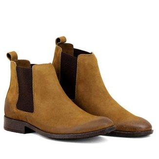 9f0a6e6ae Bota Chelsea Masculina Linha Urban Boots Em Couro Camurça