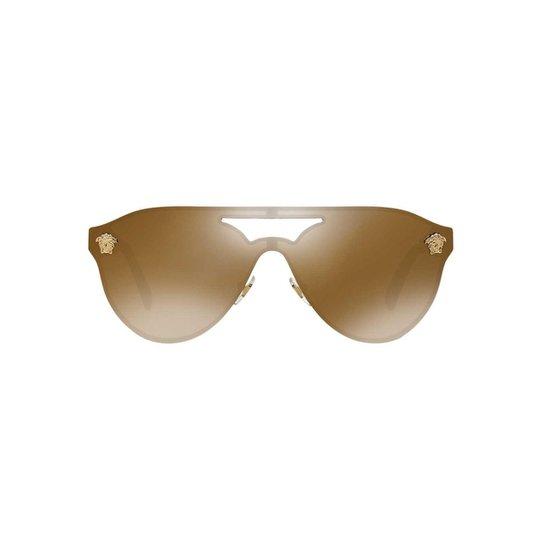 Óculos de Sol Versace Piloto VE2161 Feminino - Caramelo - Compre ... 034bf7773a