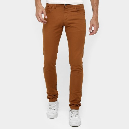 87e4a8633 Calça Skinny Preston Color Masculina - Caramelo