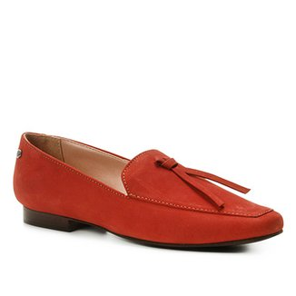 f779afd469 Mocassim Couro Shoestock Loafer Nobuck Feminino