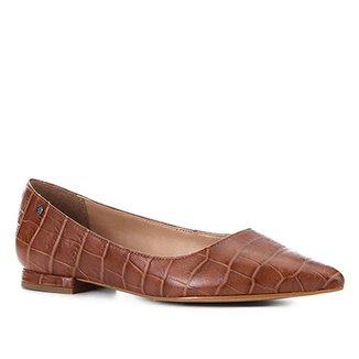 f9e28922f1 Sapatilha Couro Shoestock Croco Bico Fino Feminina