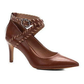 16c01d983a Scarpin Couro Shoestock Salto Alto Nomade Crafts