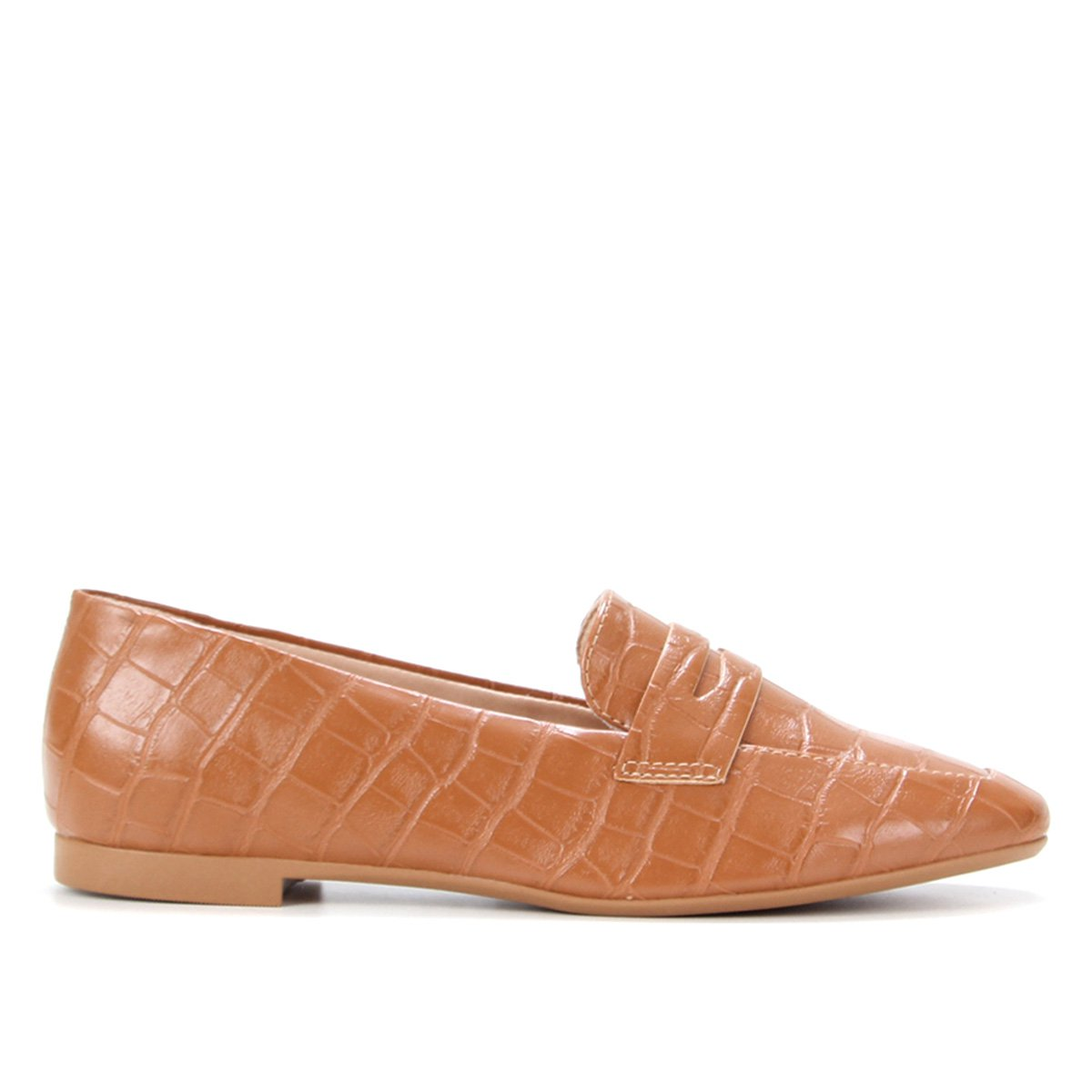 Mocassim Shoestock Loafer Croco Feminino
