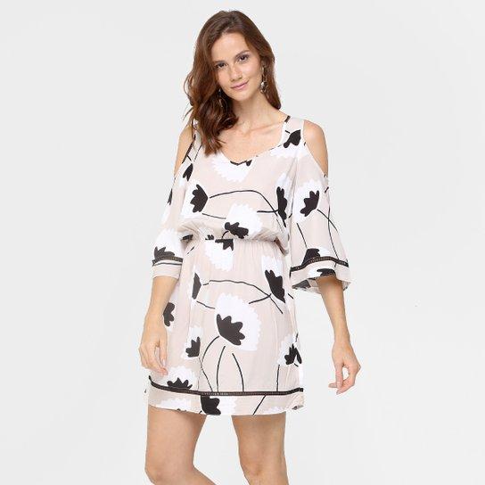 5ac853c92 Vestido Lunender Blusê Estampado - Compre Agora   Zattini