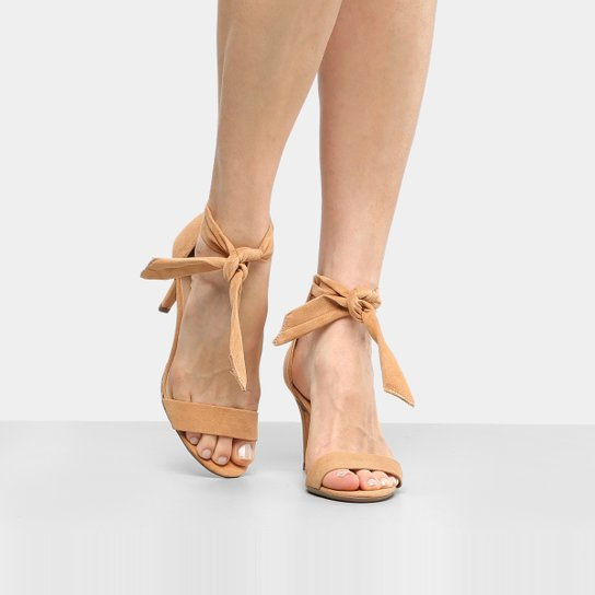 91d51c1836 Sandália Drezzup Salto Fino Laço Feminina - Compre Agora