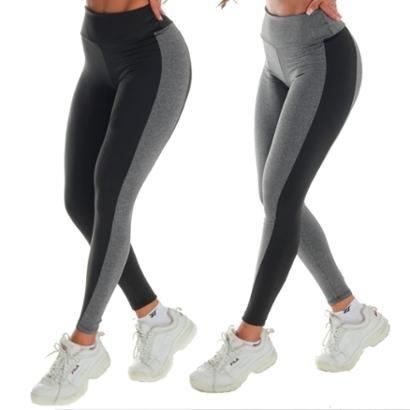 2 Calças Legging Click Mais Bonita Bicolor Feminina