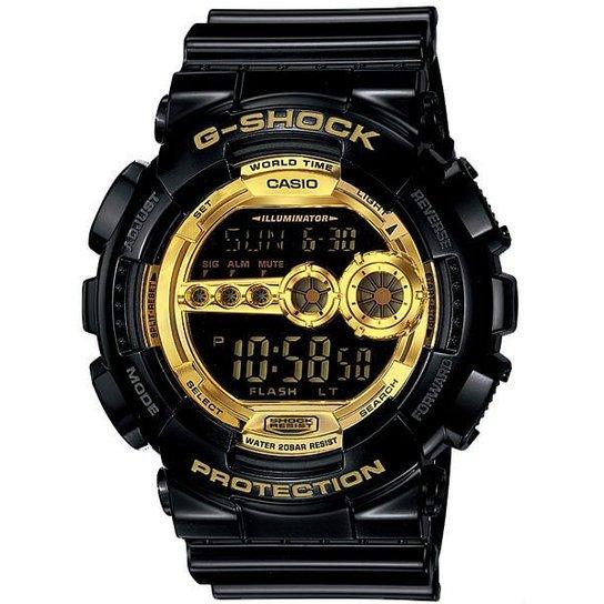 94b5f66d898 Relógio Casio G-Shock Gd-100Gb-1Dr - Preto e Dourado - Compre Agora ...