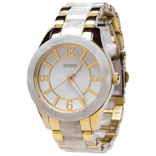f95494fad29 Relógio Guess Madre Pérola - Dourado+Branco