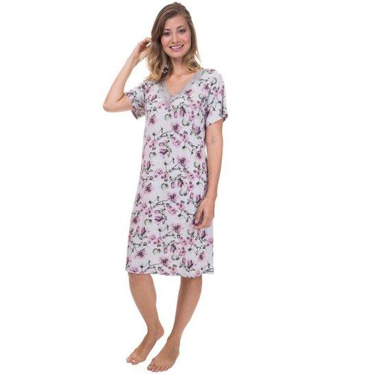 87cd390d7 Camisão Feminino FloresInspirate - Compre Agora