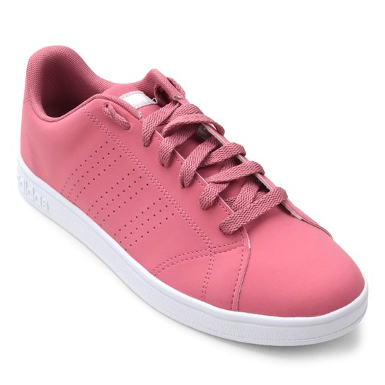 b8682c519 Tênis Adidas Vs Advantage Cl W Feminino - Rosa e Branco | Zattini