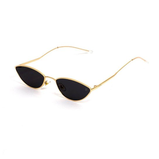 21dff46d98e1e Óculos de Sol Fino - Preto e Dourado - Compre Agora