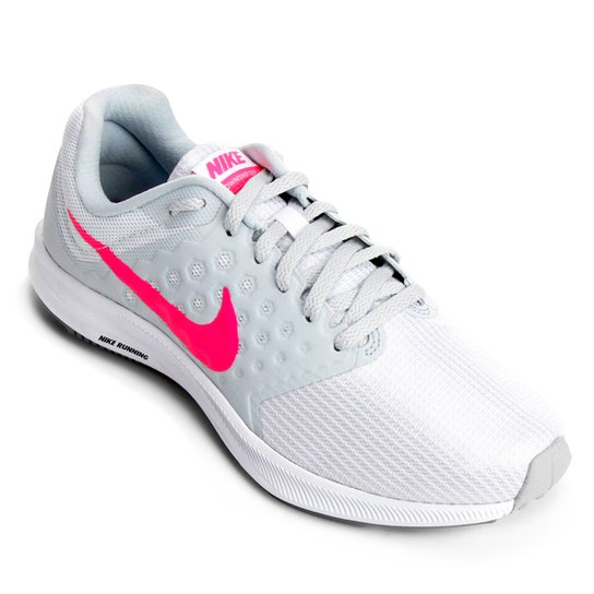 aef46999a Tênis Nike Downshifter 7 Feminino - Branco e Rosa | Zattini