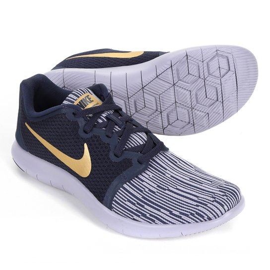 108bdda847 Tênis Nike Flex Contact 2 Feminino - Preto e Dourado - Compre Agora ...
