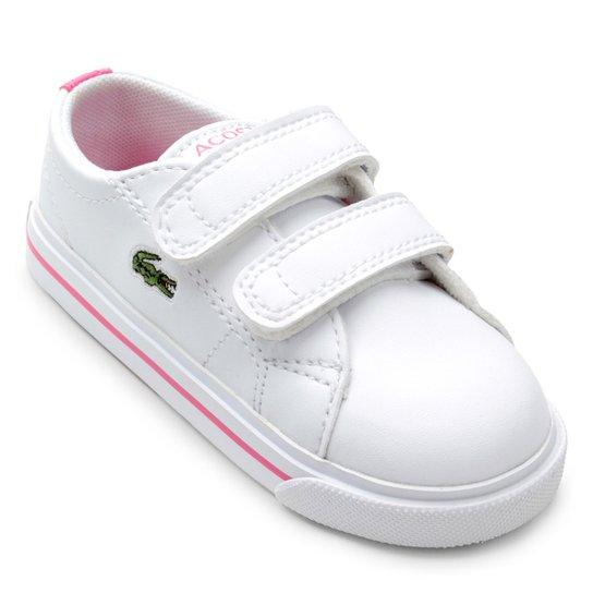 Tênis Lacoste Infantil Riberac - Branco e Rosa - Compre Agora   Zattini 5eee711174