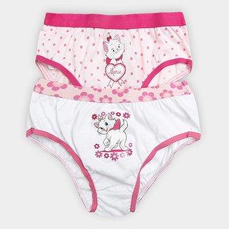 53eca5584 Kit de 2 Calcinhas Infantis Lupo Marie Feminina