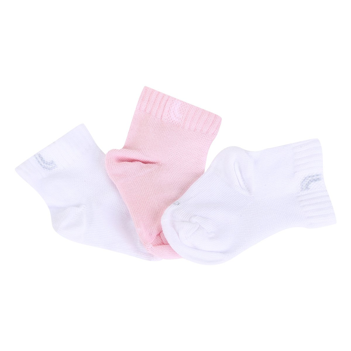 Kit Meia Infantil Lupo Baby Punho Soft Cano Médio 3 Pares