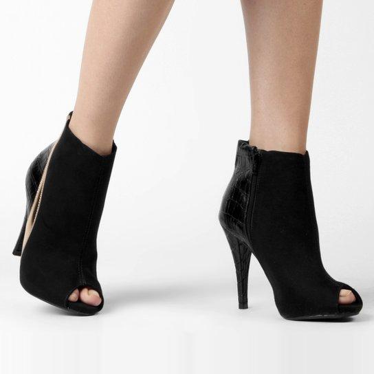 ffef29238c Ankle Boot Vizzano Mix Materiais - Compre Agora