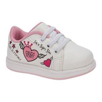 a66870390c Tênis Bebê Klin Mini Gloss Grafismo Feminino