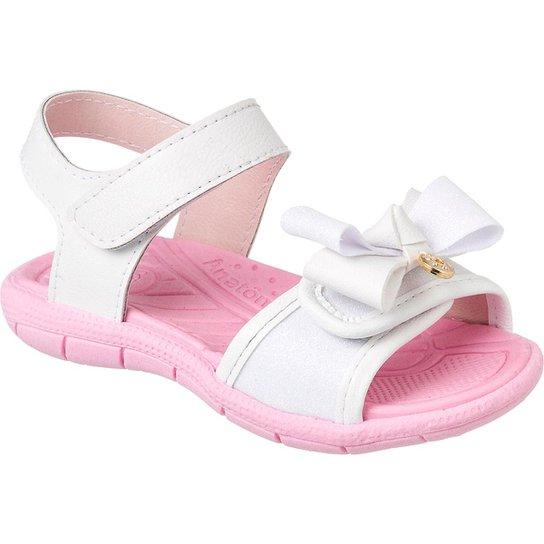 f5698104 Sandália Infantil Klin Tic Tac Casual Glitter Feminina - Branco e ...
