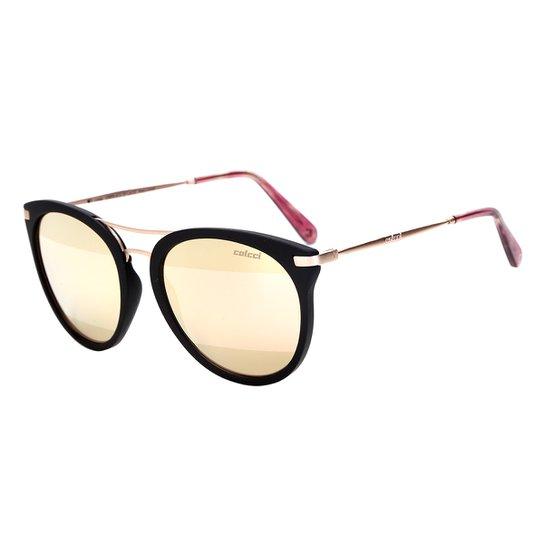 adbb65ac4 Óculos de Sol Colcci Tortoise Linda C0095 Feminino - Preto e Dourado ...